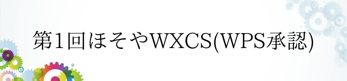 第1回ほそやWXCS(WPS承認)