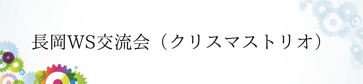 長岡WS交流会(クリスマストリオ)