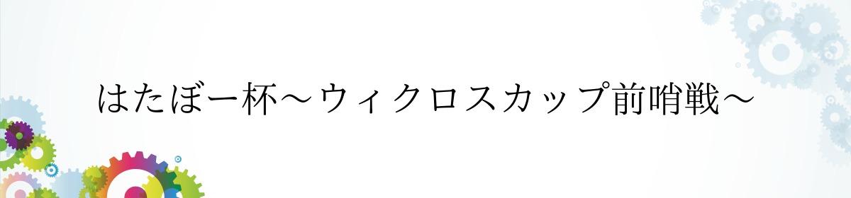 はたぼー杯〜ウィクロスカップ前哨戦〜