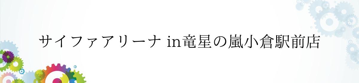 サイファアリーナ in竜星の嵐小倉駅前店